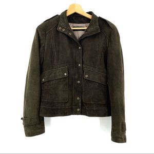 Max Mara Weekend Suede Leather Jacket sz Small